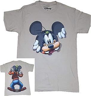 تي شيرت أنيق للكبار مطبوع عليه Goofy Peeking من Disney - أسود