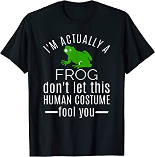 Unique Gifts for Men Human Costume I'm a Frog T shirt