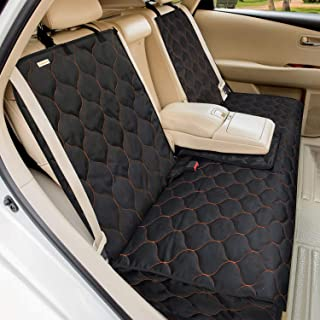 Babyltrl Dog Car Seat Cover Waterproof Pet Bench Seat Cover Nonslip and Heavy Duty Pet Car Seat Cover for Dogs and Armrest...
