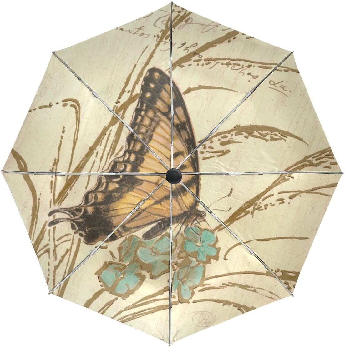 Now on sale Financial sales sale baihuishop Flower Butterfly Windproof Open Umbrellas Auto Close