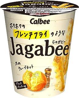 カルビー ホクホクのフレンチフライのようなJagabee ブラックペッパー味 35g ×12個