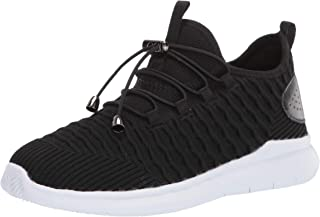 Propét Women's Travelbound Sneaker, Black/White, 8 Medium