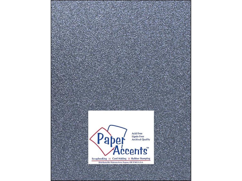 Accent Design Paper Accents Cdstk Glitter 8.5x11 85# Onyx