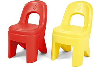 Simplay3 Play Around Chairs (2 Pack) - Hot Tamale Red and Lemon Yellow