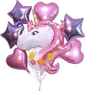 "Unicorn Decorations For Birthday Party, Pink Backdrop Baby Shower For Girls Birthday Decor, 43"" Giant Unicorn Mylar Balloo..."
