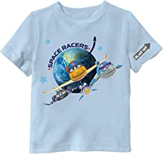 Space Racers Four Cadets Blue T-Shirt - Features Eagle, Robyn, Hawk and Raven