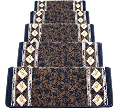 JIAJUAN Stair Carpet Treads Thick Wear Resistant Foot Pad Staircase Protection Rugs Indoor,13mm, 2 Styles, Customize (Colo...