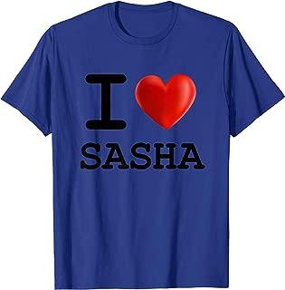 I Love SASHA Heart Name T Shirt Gift