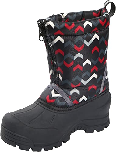 Northside Kid's Icicle Winter Snow démarrage, noir rouge, 5 M US Toddler