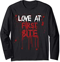 Love At First Bite Funny Halloween Vampire Costume Long Sleeve T-Shirt