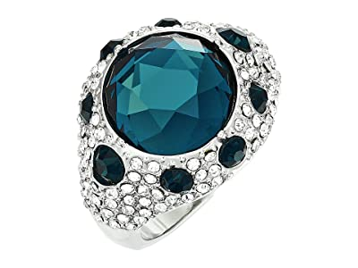 Vince Camuto Round Pave Rings (Rhodium/Crystal/Montana) Ring