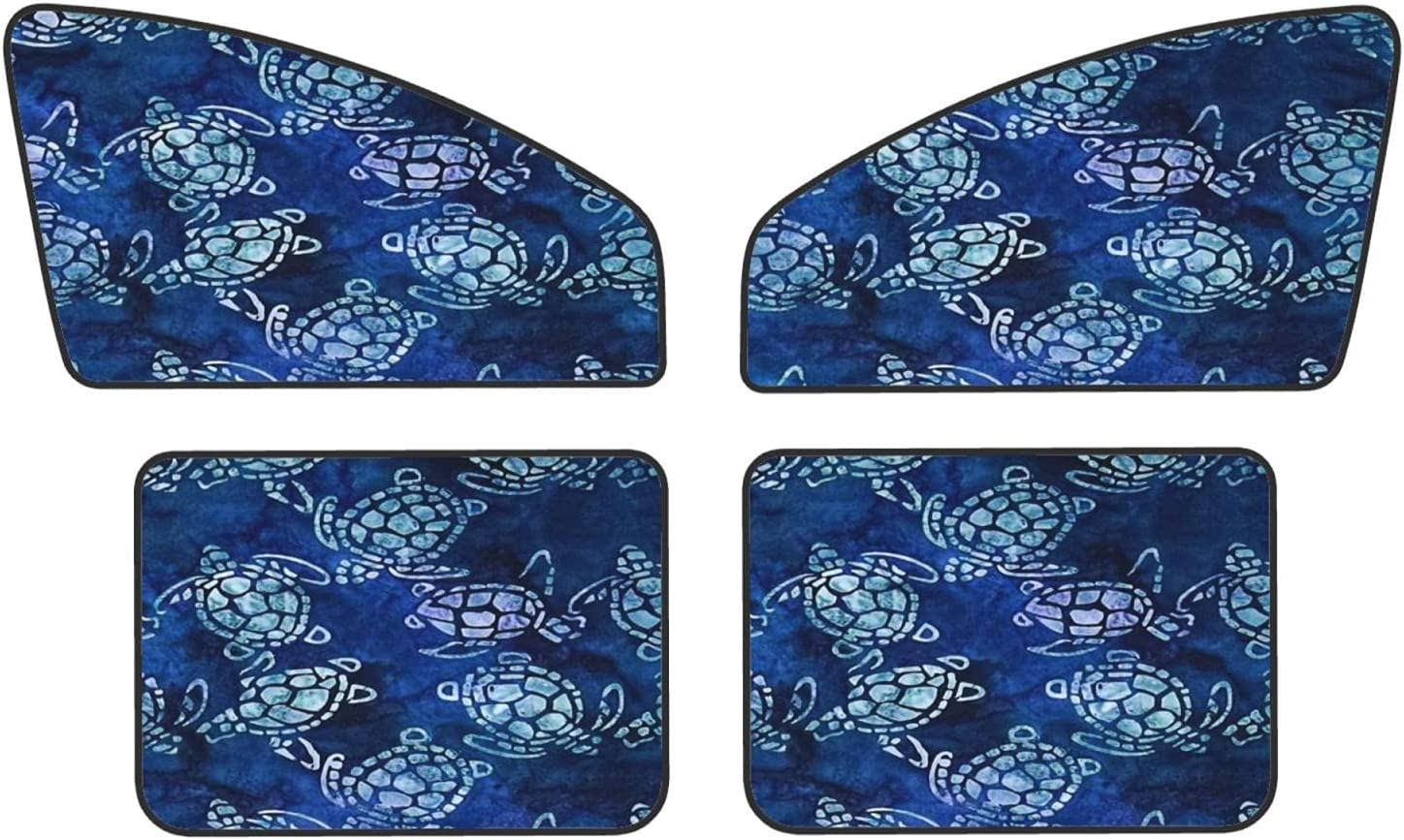 Sea Turtles Max 88% OFF Blue Car Magnets Our shop OFFers the best service Protect Sunshades Re Covers Privacy