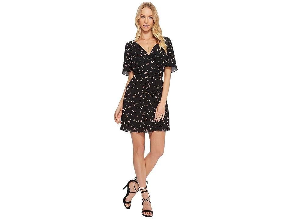 BB Dakota Lettie Faux Wrap Dress (Black) Women