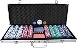 Oypla Poker Set - 500 Pedazos de Texas Hold Em Completo con Chips, Tarjetas, Dados y Casino Tipo de encapsulado