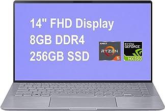 "Newest 2020 Asus Zenbook 14 LaptopComputer 14"" FHD WLED AMD Hexa-Core Ryzen 5 4500U (Beats i7-8550U) 8GB DDR4 256GB SSD N..."