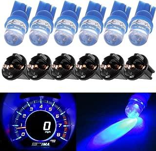 cciyu T10 194 168 Diode LED Light Bulbs Blue Instrument Panel Gauge Cluster Dashboard Light Speedometer Odometer Tachometer LED light w/Socket,6Pack