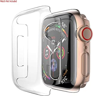 TOTU Soft Silicone Case for Apple Watch Series 4 40mm TPU Screen Protector Film Cases for iWatch 4 All-Around Cover Ultra-Thin Clear Frame 3D Touch Cover Bumper for Apple Watch 4 Case (40MM)