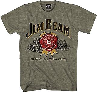 Jim Beam Mens Bourbon Shirt Bourbon Whiskey Logo Shirt Graphic Shirt