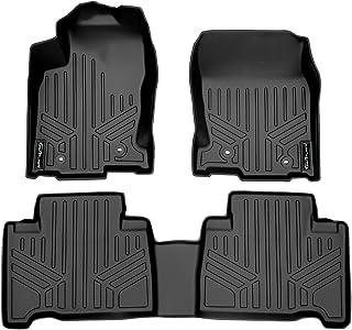 SMARTLINER Custom Fit Floor Mats 2 Row Liner Set Black for 2015-2019 Lexus NX200t / NX300 / NX300h