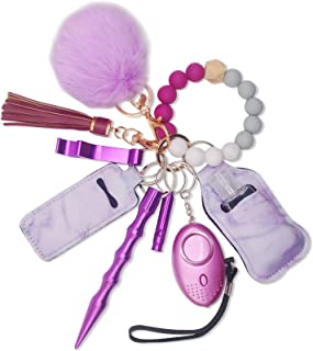 Sponsored Ad - Self Defense Keychain Set For Women Girl Safety Key Chains With Bracelet Tassel
