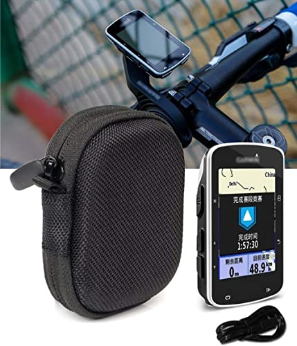 lowest WGear popular Feature Designed Compact Hard Case for Garmin Edge 520 Bike GP, Edge 820, Elastic Strap in The Base to Secure The Device, and Mesh Pocket for Accessories new arrival Ballistic Black outlet sale
