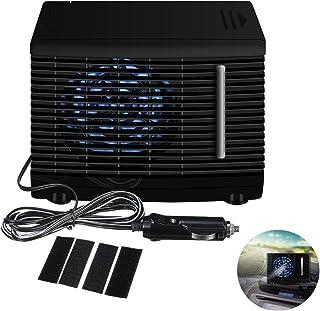 Hearthrousy 12V Auto Luftk/ühler Klimaanlage K/ühlluftventilator Autoventilator Elektrische Auto Universal DC12V 35W Schwarz Tragbare Mini Wasser