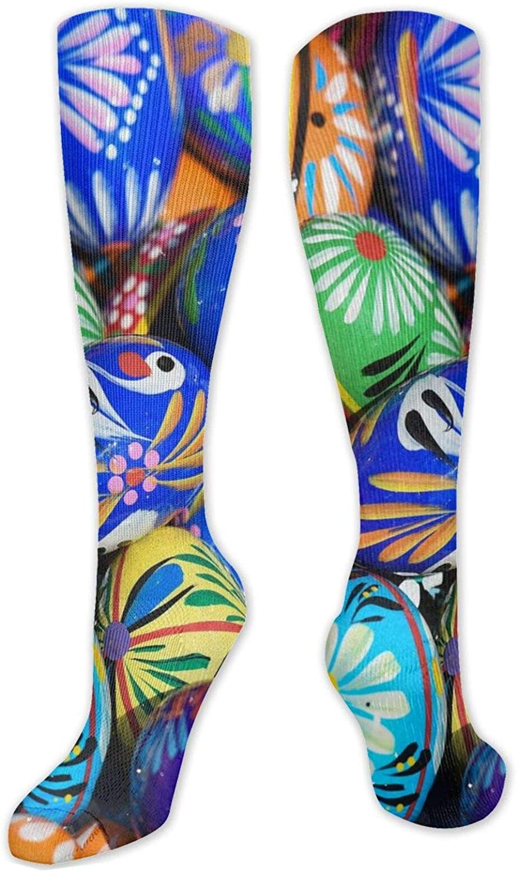 Beautiful Easter Egg Knee High Socks Leg Warmer Dresses Long Boot Stockings For Womens Cosplay Daily Wear