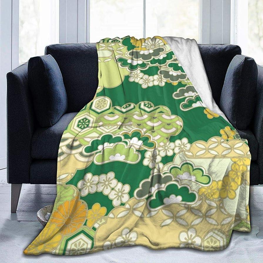売り手ヒント淡い毛布 ブランケット 和柄 花柄 和風花柄 シングル ふんわり 洗える フランネル シーツ ひざ掛け
