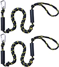Chirsfly Bungee Dock Lines Shock Bungee Docking Rope Stretchable Mooring Rope with Foam Float Perfect for Jet Ski, SeaDoo, Yamaha WaveRunner, Kayak, Pontoon(4ft -5.5ft)-2 Pack