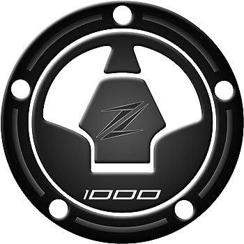 Pour Zip noir Azgraphishop Protecteur de bouchon de carburant en r/ésine 3D pour moto Kawasaki Z900/GP 397/
