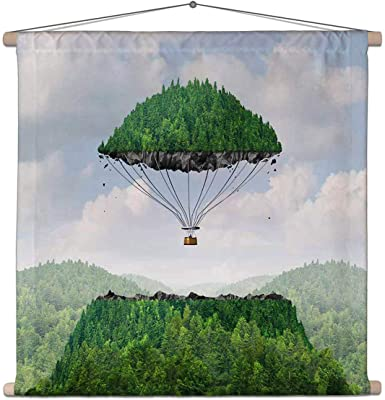ArtzFolio Imagination Concept Art Canvas Fabric Painting Tapestry Scroll Art Hanging 38.2inch x 36.7inch (97cms x 93.2cms)
