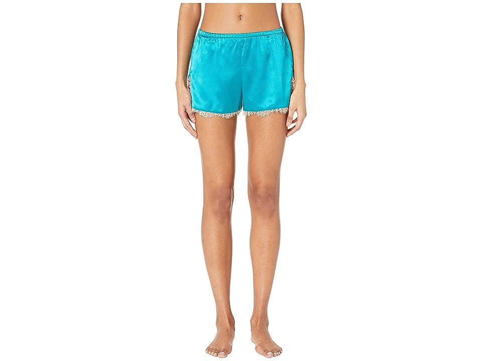fleur du mal Lace Trim Tap Shorts (Lulu Green) Women