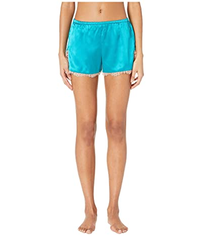 fleur du mal Lace Trim Tap Shorts (Lulu Green) Women