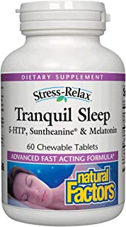 Natural Factors Stress Relax Tranquil Sleep - 60 Chewable Tablets