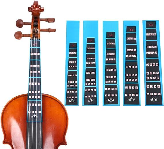 Milisten Cello Finger Guide Fingerboard Sticker Finger Position Markers Label Finger Chart for 1//2 Cello Beginners Cello Accessories