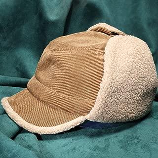 WHPSTZ Lamb Cashmere Flying Hat Female Winter Earmuffs Cap Male Corduroy Lei Feng Hat Women's Wool Cap (Color : Camel)
