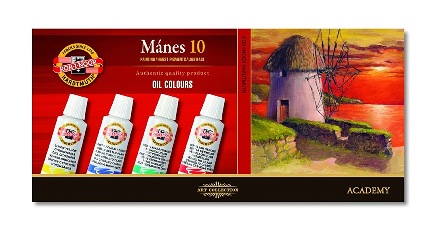 KOH-I-NOOR 01615S1001KS 16 ml Set of Artists' Oil Colour Paint - Assorted (Pack of 10)