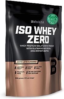 BioTechUSA Iso Whey ZERO, Lactose, Gluten, Sugar FREE, Premium Whey Protein Isolate, 500 g, Caffé Latte