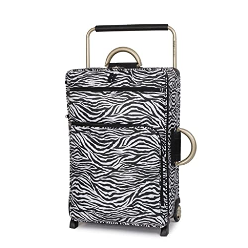 IT Luggage World's Lightest 69cm Two Wheel Trolley Suitcase Zebra Print