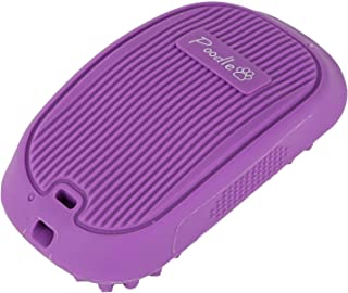 Poodle Pet Pet Brush Dog Massager Gently Removes Lint and Shed Hair for Daily Grooming |for Short or Medium Hair | Soft Rubber Bristles Easy to Keep Clean and Germ-Free | Purple