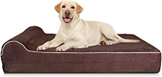 """7"""" Thick High Grade Orthopedic Memory Foam Dog Bed with Pillow & Easy To Wash Removable Cover with Anti-Slip Bottom. Free ..."""