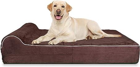 تختخواب فشرده شده با حافظه ارتوپدی درجه یک با ضخامت 7 اینچی با بالش و شستشوی آسان پوشش قابل جابجایی با ضد لغزش. بوش ضد آب رایگان شامل - JUMBO XL برای سگ های بزرگ