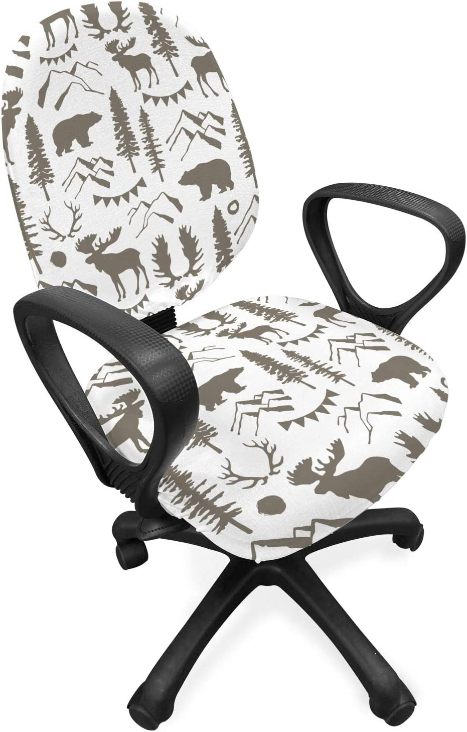 Choice Ambesonne Northwoods Office Chair Slipcover Forest Japan's largest assortment wit Elements