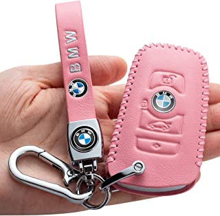 Sponsored Ad - Leather Car Key Fod Cover Case Protector Keyless for BMW X3 X4 GT3 GT5 1 2 3 4 5 Series, 4 button Smart Key...