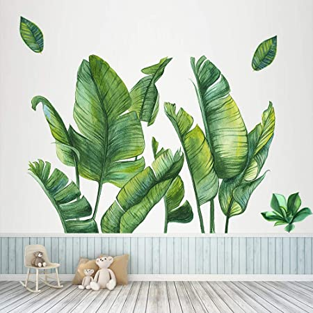 Ivy Foliage Hanging Leave Nice Tropical Plant Nursery Removable DIY Wall Sticker