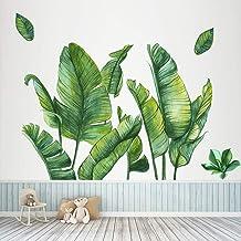 Groene Bananenblad Tropische Planten Bladeren Behang Schil en Stok, KAZITOO Verwijderbare Boomblad Muursticker Stickers Mu...