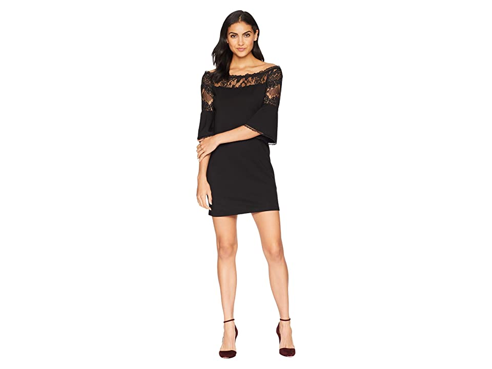 BB Dakota Desperado Off the Shoulder Dress (Black) Women