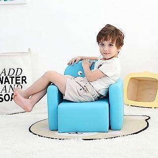 Emall Life Table et Chaise multifonctionnelles pour Enfant avec Sourire pour Fille et garçon (Dinosaure Bleu)