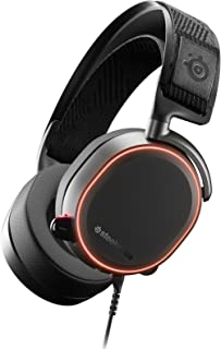 SteelSeries Arctis PRO ChatMix Dial, 40, 000Hz Hi-Res, Surround Sound DTS Headphone, RGB Illuminated PC Gaming Headset | 6...