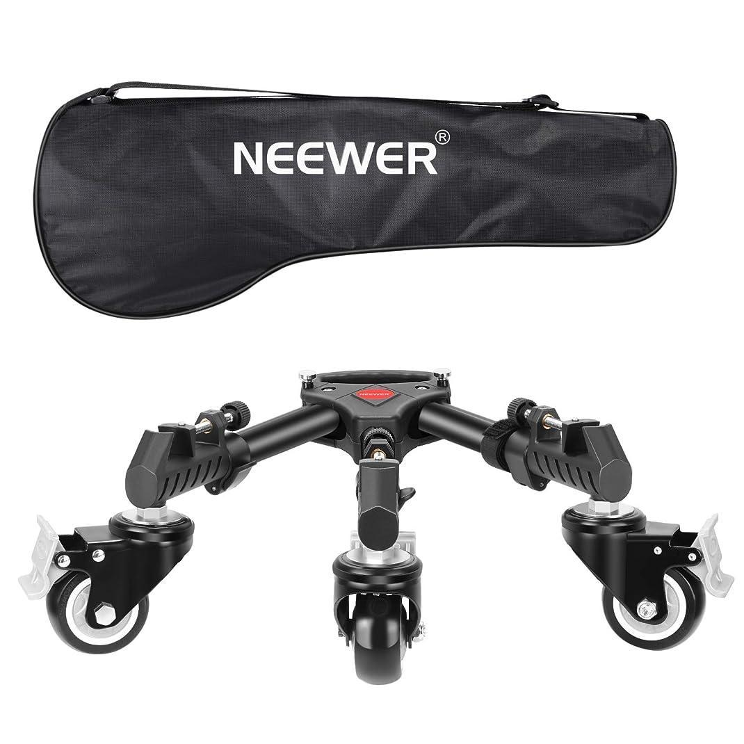 侵入するパンツ以前はNeewer 撮影写真用三脚ドリー ヘビーデューティー 大型3インチラバーホイール、調節可能なレッグマウント、キャリーバッグ付き ビデオ製作に対応 最大耐荷重22.68kg